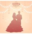 vintage wedding vector image vector image