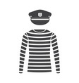 sailor shirt and captain cap vector image