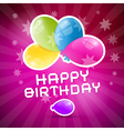 Happy Birthday Retro Pink Background with Colorful vector image vector image