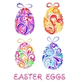 Floral decorative patterned Easter Eggs vector image