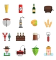 Beer Icons Flat Set vector image vector image