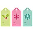 Christmas present hang tags vector image