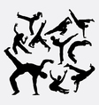 Capoeira sport dance silhouettes vector image vector image