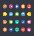 Glyphs Colored Icons 31 vector image