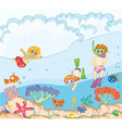 kids swimming vector image