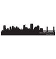 Sacramento California skyline Detailed silhouette vector image vector image