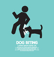 Dog Biting Symbol vector image