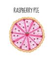Raspberry cake birthday cake Baking with vector image