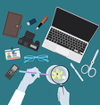 Scientist workplace vector image