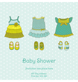 Baby Shower Card with Snail vector image vector image