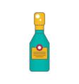 sparkling wine bottle flat vector image