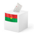 Ballot box with voting paper Burkina Faso vector image