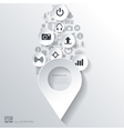 Location icon Flat abstract background with web vector image
