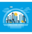 Urban flat style vector image vector image