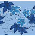 blue vector seamless flower background pattern flo vector image vector image