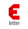logo red tape in the form of letter E vector image