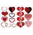 different hearts vector image vector image