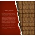 Chocolate Christmas card vector image