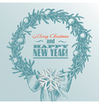 Christmas New year holidays hand drawn wit vector image