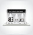 Clothing boutique building isolated vector image
