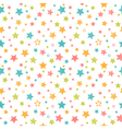 Cute seamless pattern with stars Stylish print vector image