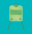 flat icon in shading style train vector image