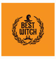 halloween party best witch concept design vector image