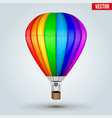 hot air rainbow balloon vector image