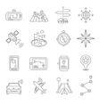 Location Outline Icon Set vector image