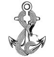anchor and snake vector image vector image
