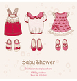 Baby Shower Card with Dresses vector image vector image