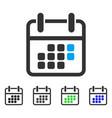 Calendar weekend flat icon vector image