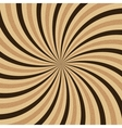 Coffee abstract hypnotic background vector image vector image