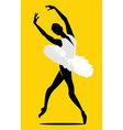 Ballerina dancing vector image