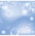 Abstract christmas card with blue background vector image