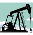 Oil well vector image
