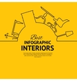 Interior circle infographics vector image