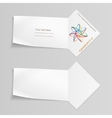 Paper banners with logo Labels for your text vector image