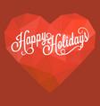 calligraphic happy holidays vector image