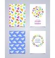 decorative leaflet design made of paper vector image