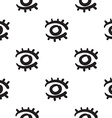 Eyes seamless pattern hand drawn vector image