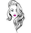girl hairdress vector image