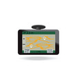 gps navigation system in car vector image