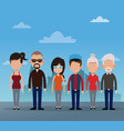 group people community social vector image