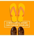 New pair of shoes can change your life vector image