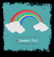 Paper art Rainbow in the clouds vector image