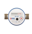 Photorealistic water meter on white background vector image