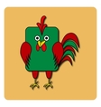 Flat bird design isolated on color background vector image