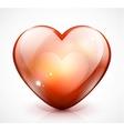 Glossy valentine heart vector image