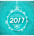 Merry christmas and New Year blue card background vector image